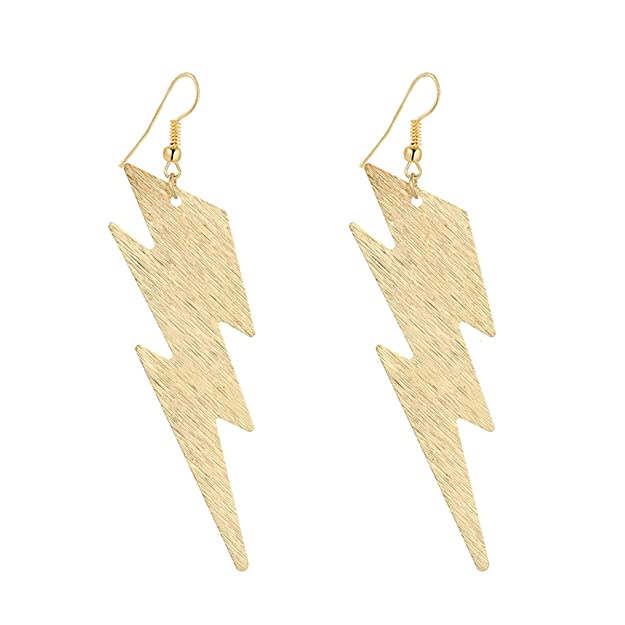 Vintage Style Jewelry, Retro Jewelry IDB Productions IDB Delicate Filigree Dangle Lightning Bolt Drop Hook Earrings - available in silver and gold tones $9.95 AT vintagedancer.com
