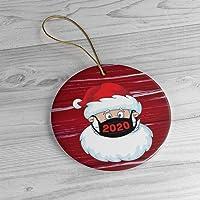 Santa Wearing Mask 2020 Christmas Tree Ornament, Funny Xmas Gift Limited Edition, Quarantine XMAS Gifts Presents, Tree…