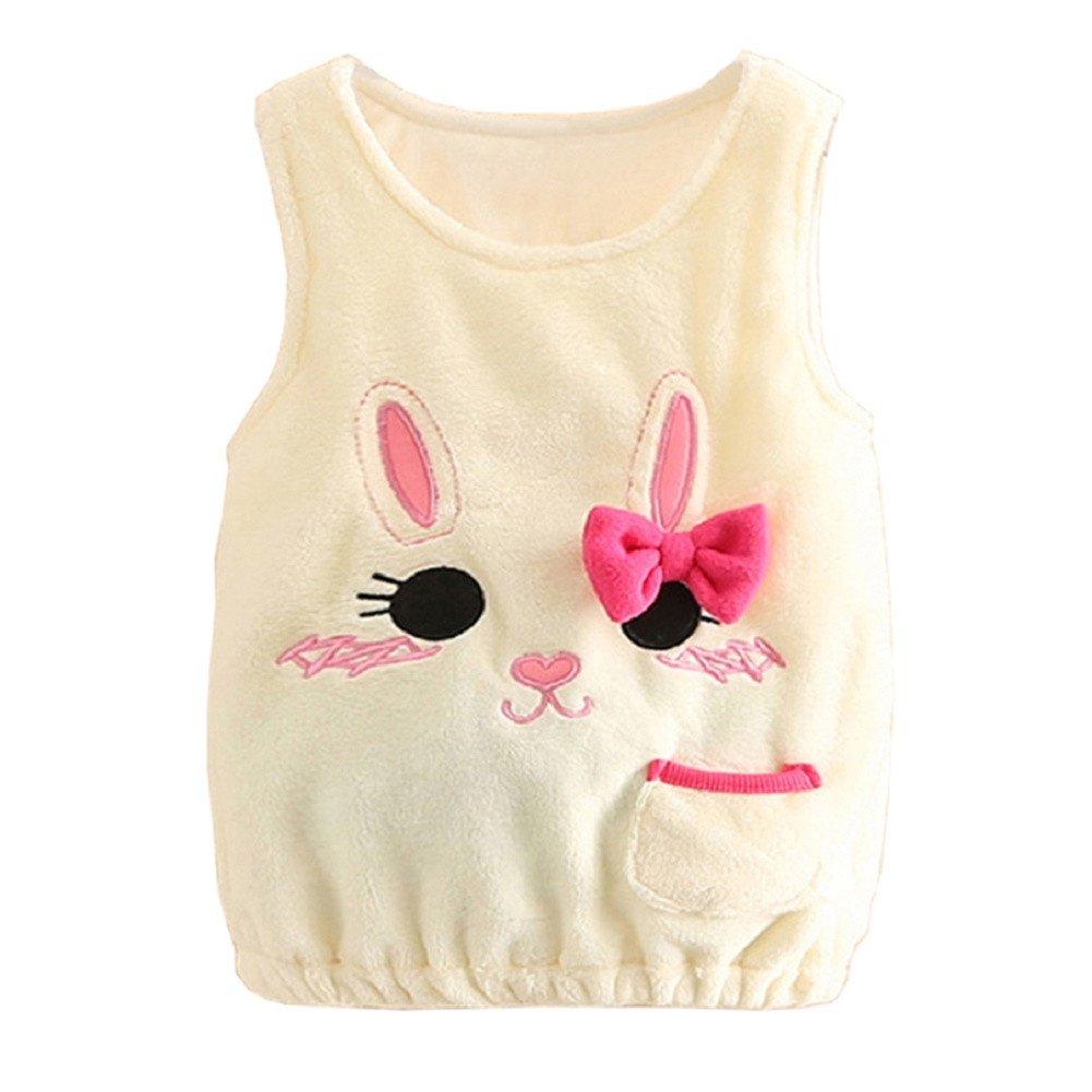 Mud Kingdom Little Girls Cute Kitten Coral Fleece Pullover Vest SS0343