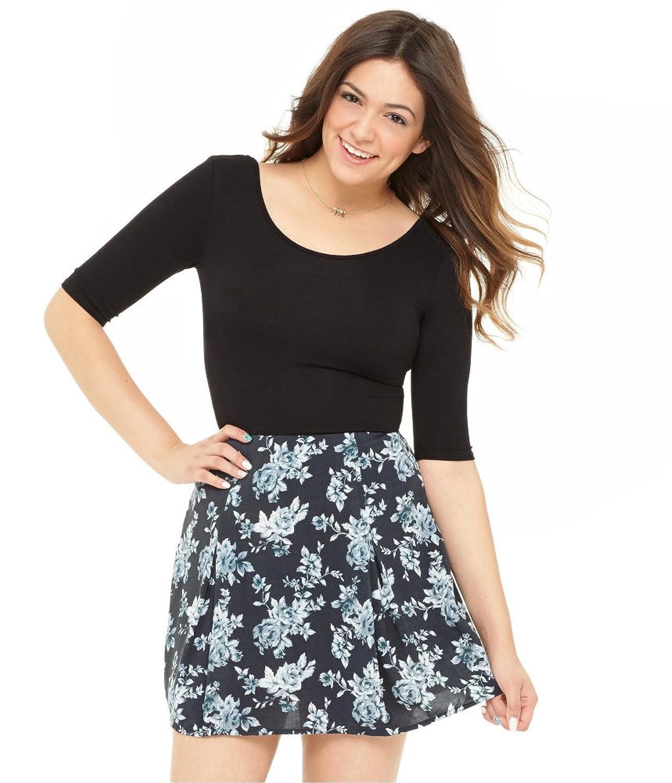 Aeropostale Womens Floral Skater Mini Skirt