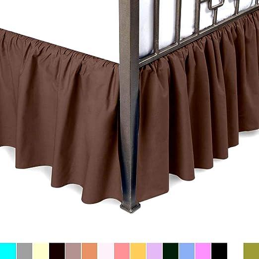 Solid White Regular Bed Skirt 650 TC Cotton Split Corner All Size Drop Sale