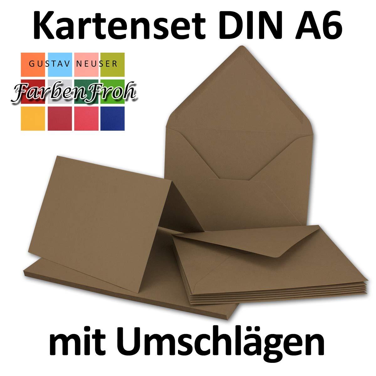 Faltkarten Set mit Brief-Umschlägen DIN A6     C6 in Rosanrot   100 Sets   14,8 x 10,5 cm   Premium Qualität   Serie FarbenFroh® B079Z4K92C | Exquisite (in) Verarbeitung  3bdced
