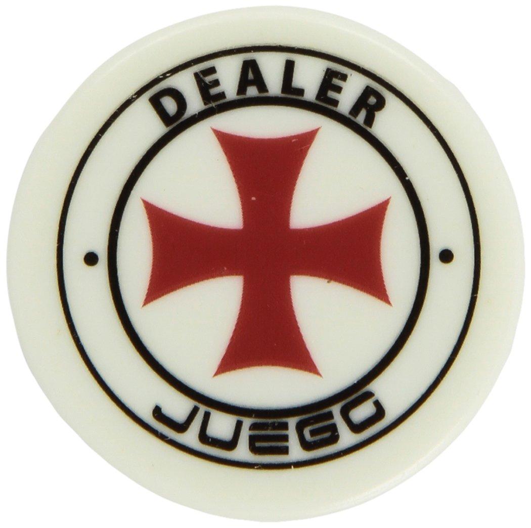 Juego Ju00150 - Gettone Dealer 6.5 X 6.5 X 2 Cm, 1 Pezzo Standard, Per Gioco da Tavolo e Gioco di Società, Modelli Assortiti, Bianco ITA srl carte carte burraco carte da gioco