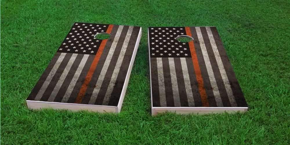 Skip's Garage (Corn) アメリカンシンオレンジライン Stripes EMS コーンホールボード - Bags バッグとアクセサリーを選択 - ボード2枚 バッグ8枚など B07P61MHNX 3) Stars & Stripes Bags (Corn) A.付属品なし 3) Stars & Stripes Bags (Corn), アメリカサプリ専門スピードボディ:fff804cb --- krianta.ru