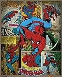 Pyramid International Spider-Man Retro Marvel Comics Mini Poster, Plastic/Glass, Multi-Colour, 40 x 50 x 1.3 cm