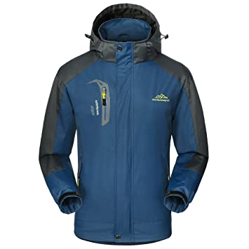 Impermeable chaqueta hombres Sportswear-GIVBRO 2017 nuevo diseño al aire libre con capucha chaquetas Softshell (azul oscuro, M): Amazon.es: Deportes y aire ...