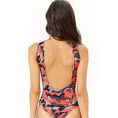 Amazon.com: Kulywon Women One Piece Push Up Printed Bikini Beach Bathing Monokini Swimsuit Swimwear: Clothing