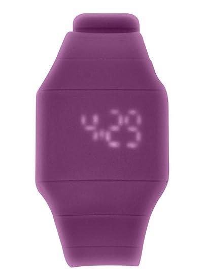 DSstyles Reloj deportivo para niños Reloj resistente al agua de color caramelo con luz LED táctil para niñas adolescentes - morado: Amazon.es: Relojes