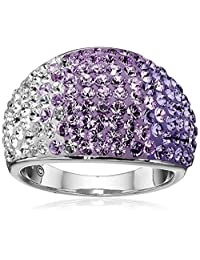 Sterling Silver Ring with Swarovski Elements, Size 7