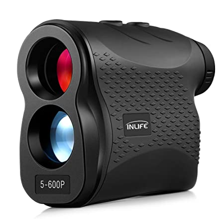 INLIFE Laser Rangefinder 656 Yard Distance Meter 6X Monocular Golf Range Finder with Slope, Flag-Lock, Height, Fog, Distance, Speed Measurement