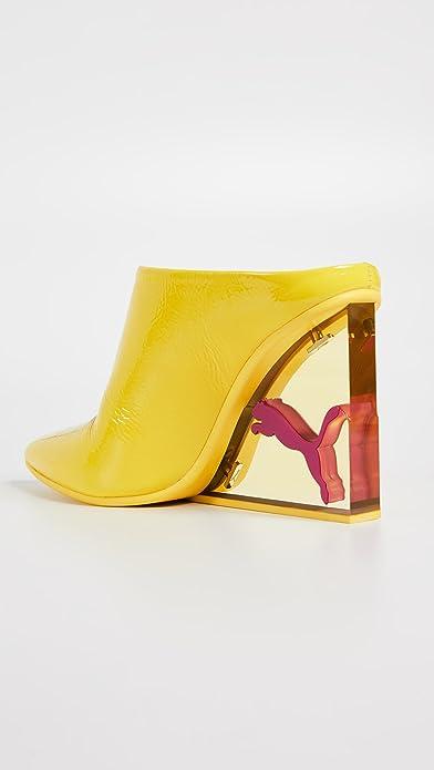 f2f0f44bad8a1 Amazon.com | PUMA Women's x Fenty Cat Wedge Mules, Blazing Yellow, 7.5 M US  | Shoes