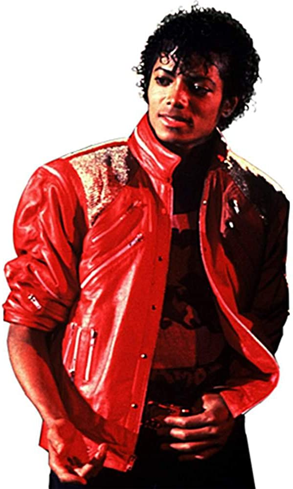 Deluxe Michael Jackson Jacket Adult Costume Beat It Jacket (Red w/Zippers) - Medium 615PxNDtwPLUL1000_