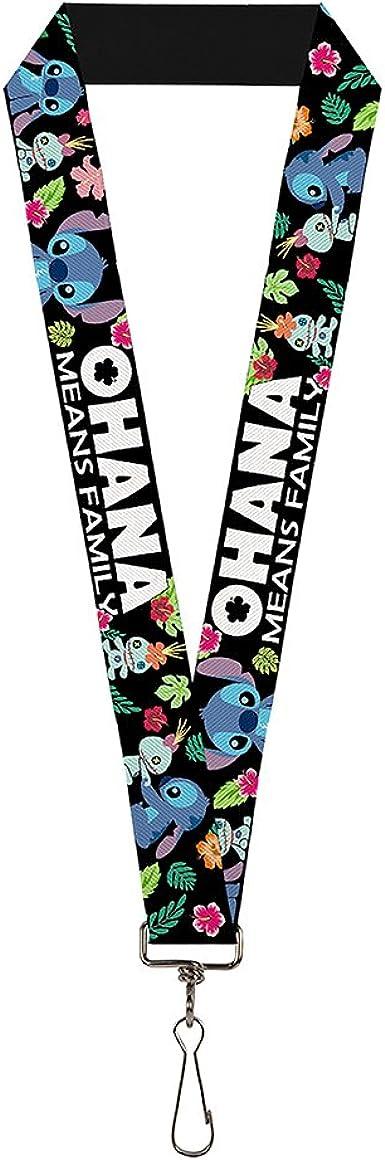 "Lilo /& Stitch 18/"" Lanyard Keychain Disney Scenes Scrump"