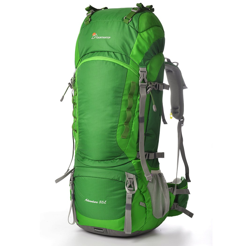 MOUNTAINTOP 80l Hiking Backpack Pine Green by MOUNTAINTOP