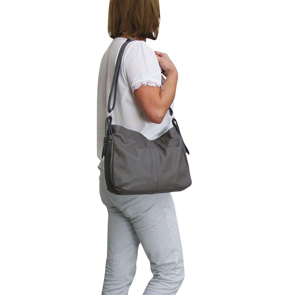 7fafc177d9 Chapeau-tendance - Sac a main cuir gris Nani - - Femme: Amazon.fr:  Chaussures et Sacs