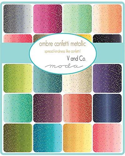 Metallic Ombre Confetti Jelly Roll - 2.5'' Cotton Strips by V & Co For Moda by Moda Fabrics (Image #1)