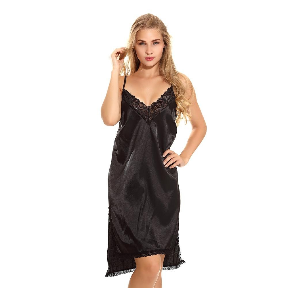 Amazon.com: Myhope Women Halter Lingerie Nightgown Babydoll Sleepwear Dress Size from S to XXL: Sports & Outdoors