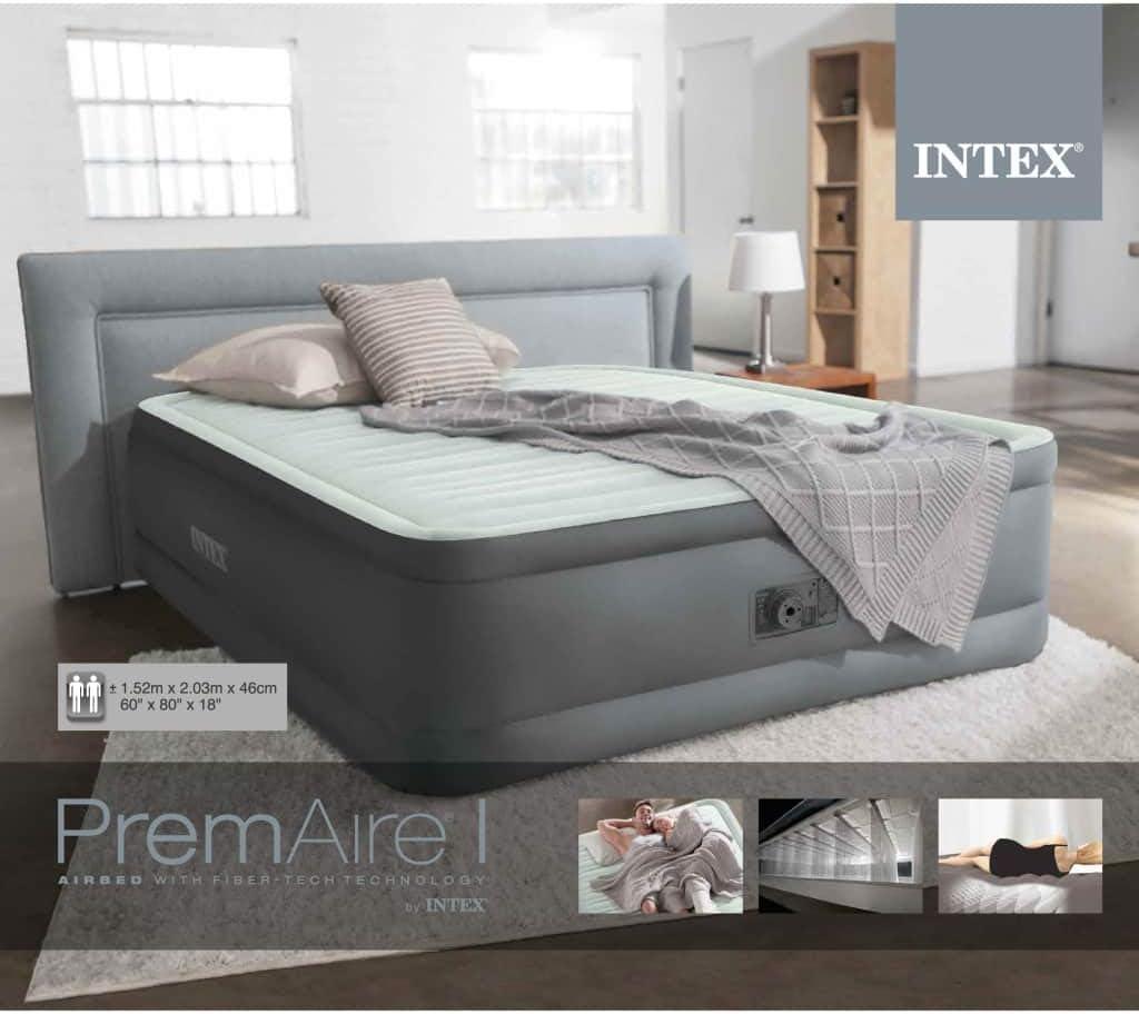 vidaXL Intex Luftbett PremAire mit integrierter Pumpe 64906