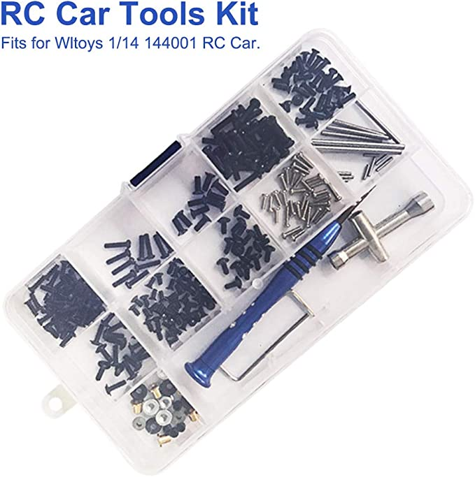 Car Replacement for Wltoys 1:14 144001 RC Car Screws Kit RC Screws Kit Repair Tool Box Hardware Fasteners