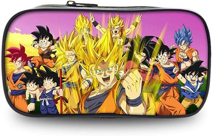 Dragon Ball Z Saiyan Anime Monedero 8 Pulgadas Estuche de lápices Útiles Escolares Papelería Bolsa de Almacenamiento Niños Niñas Regalos O: Amazon.es: Hogar