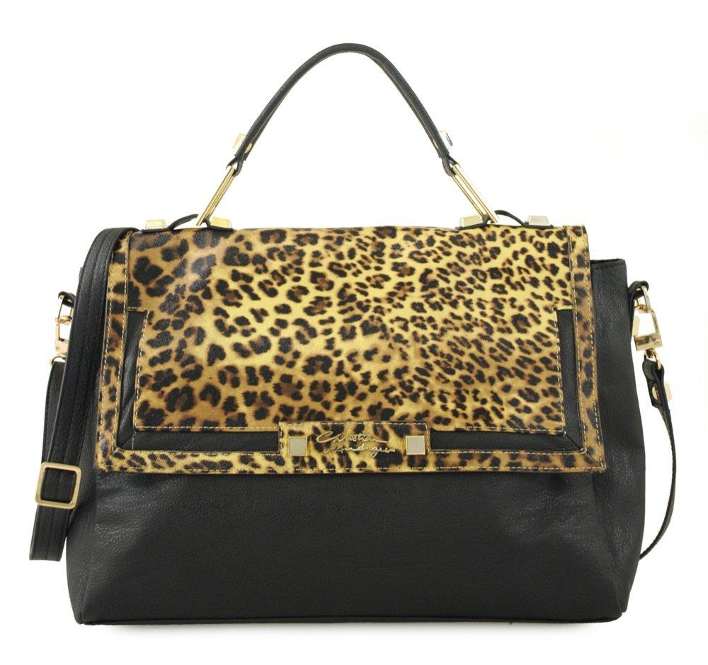c60b758be610 Amazon.com  Wanda Messenger Leopard Animal Print Bag-black brown Leopard   Arts