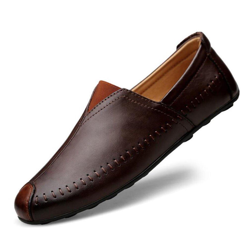 CAI Herrenschuhe Leder Faulen Schuhe Frühjahr/Sommer/Herbst/Winter Komfort Faulenzer  SlipOns Herren Outdoor/Reise Wanderschuhe/Driving Shoes (Farbe : Braun  Größe : 39) Braun