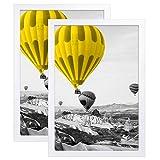 THREELOVE 12x18 Frame White Poster Frame Made of