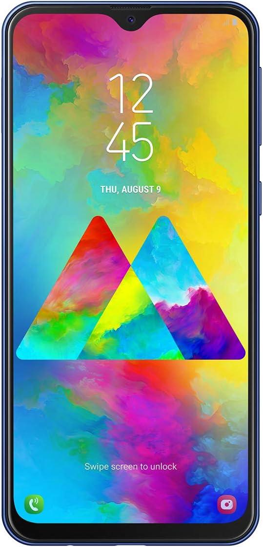 Samsung Galaxy - M20 Smartphone, FHD+ Infinity V Display 6.3, 4 GB RAM, 64 GB ROM, azul [Versión española]
