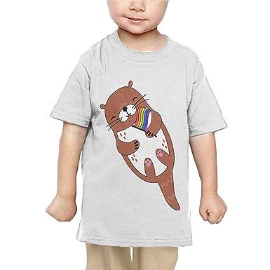 Amazon.com: Pipi66xiami Baby LGBT Gay Pride Otter - Camiseta ...