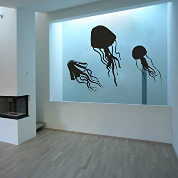 Quallen Tentakeln – VINYL Wand Aufkleber Aufkleber Home ...