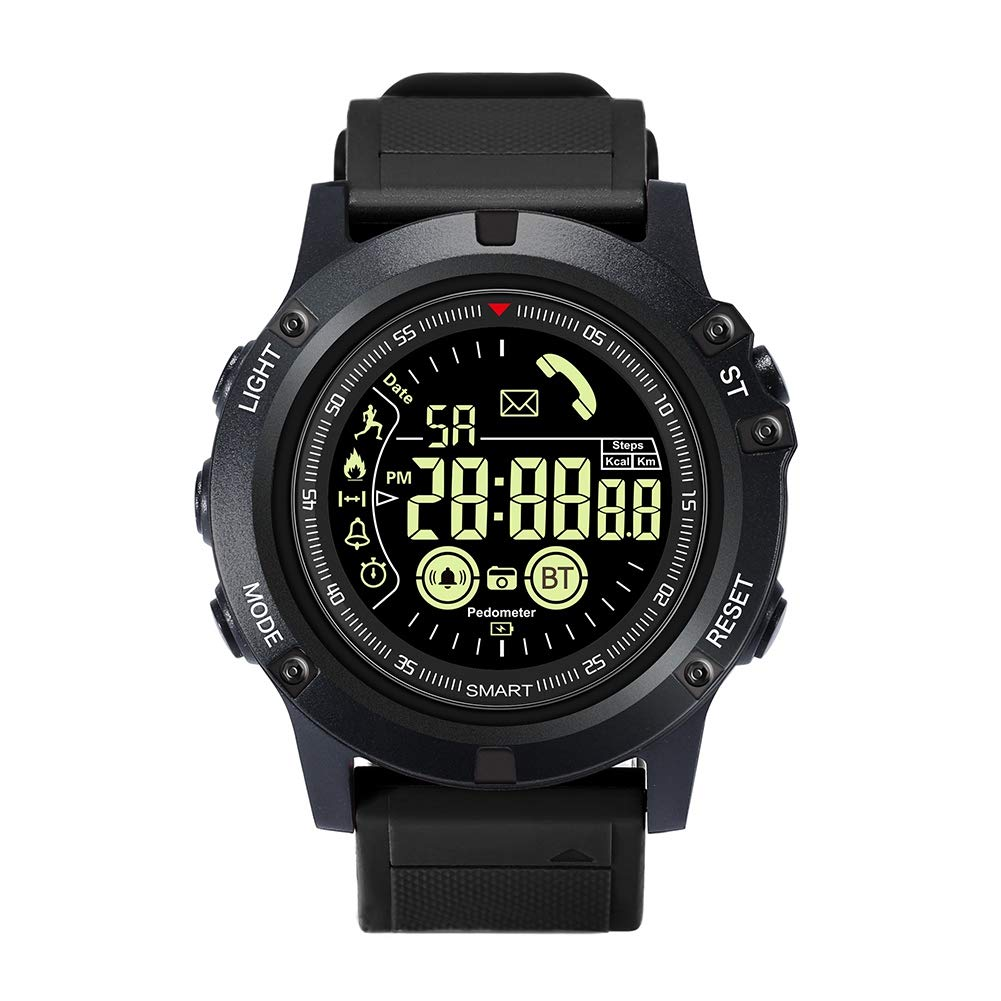 IP67 Waterproof Smart Activity Watch?Luminous Dial Pedometer Stopwatch Sports Watch, Support Remote Camera for Samsung Android iOS, Alarm Monitor for Walking Running,Men,Watches,Wrist Watches by TXDG