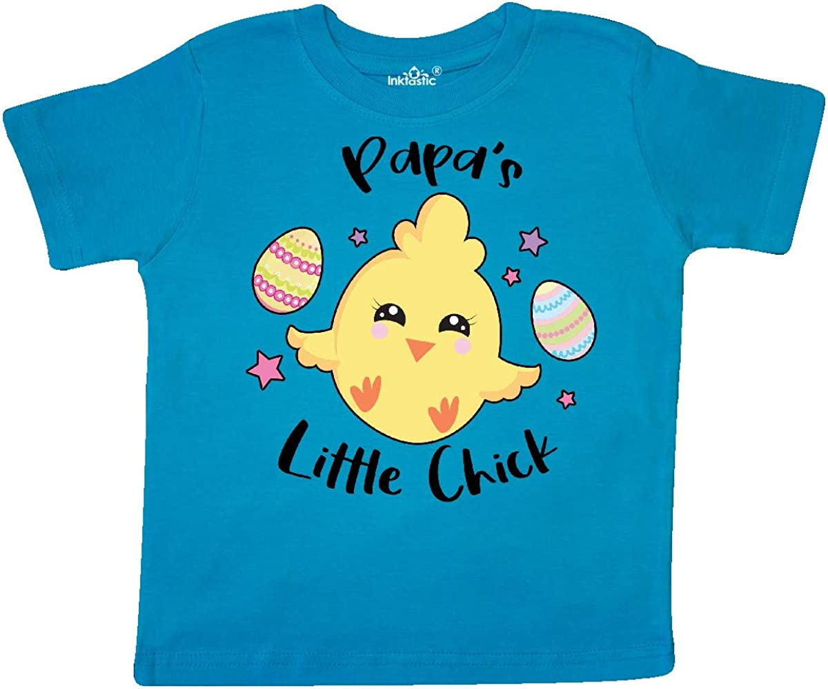 inktastic Happy Easter Papas Little Chick Toddler T-Shirt