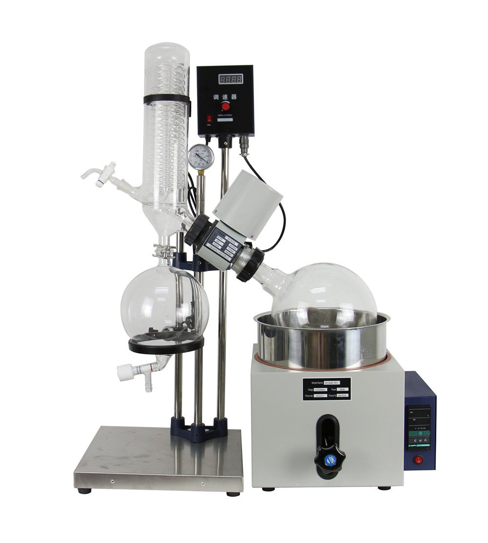 lab1st 5L Lab Rotary Evaporator with Hand Lift 0-120rpm,0-180℃ Ship