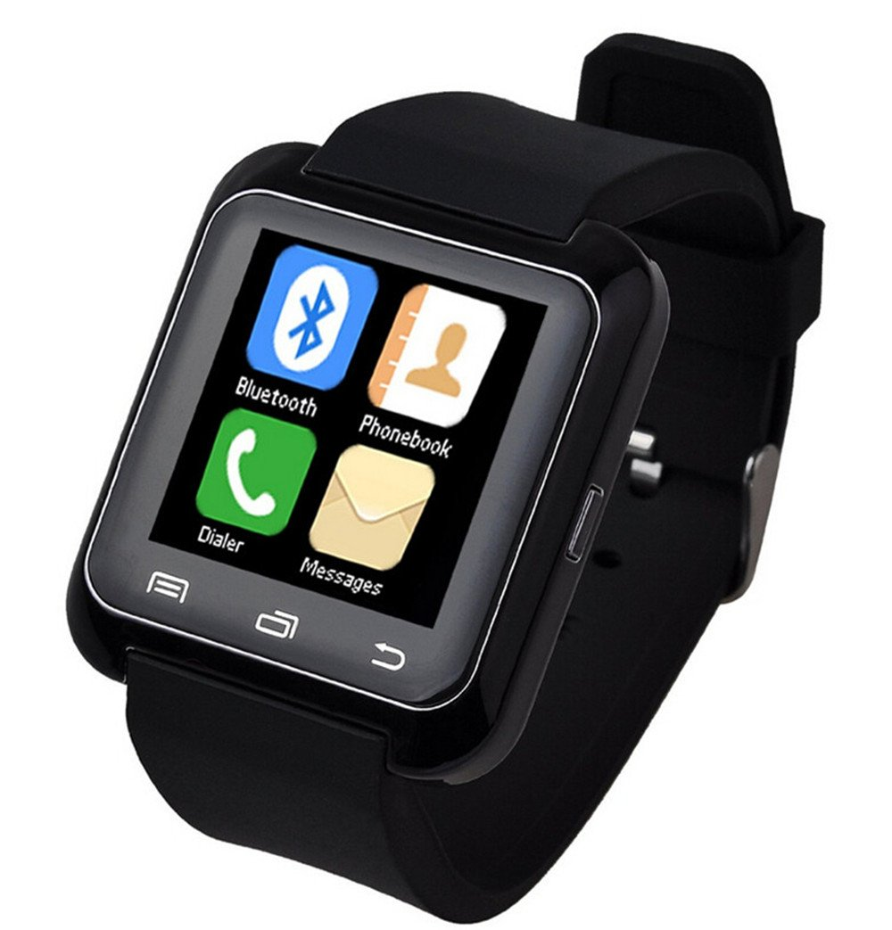 iTontek® U80 Bluetooth 4.0 Smartwatch Sportswatch Pedometer for Smartphones IOS Apple iPhone,Android Samsung 4 HTC Sony (Black) [Upgraded Version of ...