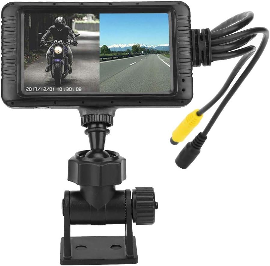 disparo de lente gran angular frontal y posterior de doble lente pantalla a color de 3 pulgadas monitor de cond grabaci/ón autom/ática de ciclo KIMISS Grabador de conducci/ón de motocicletas 1080P HD