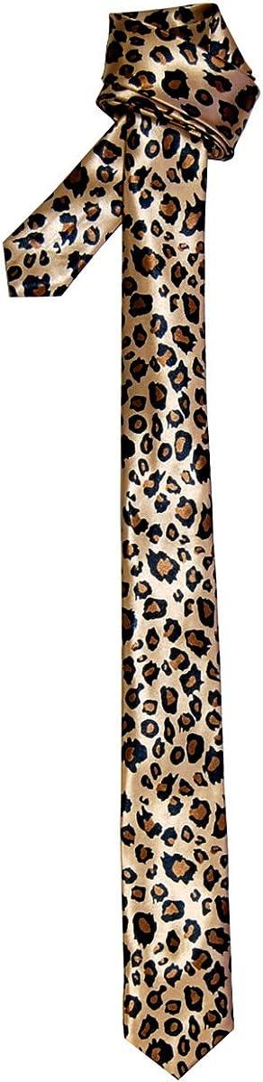 Leopard Print Mens Skinny Tie