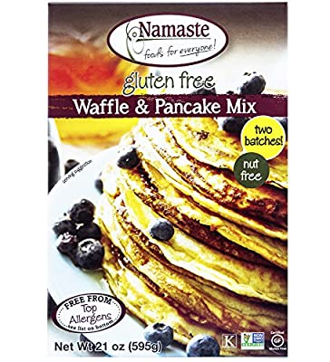 Namaste Foods, Gluten Free Waffle & Pancake Mix, 21-Ounce Bags (Pack of 6)