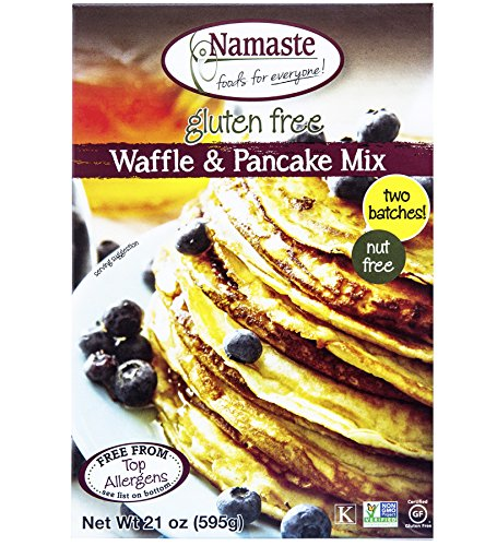 Namaste Foods, Gluten Free Waffle & Pancake Mix,  21-Ounce Bags (Pack of 6)