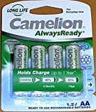 AA Solar Light Rechargeable Batteries (pack of 4) - Ni-Hm
