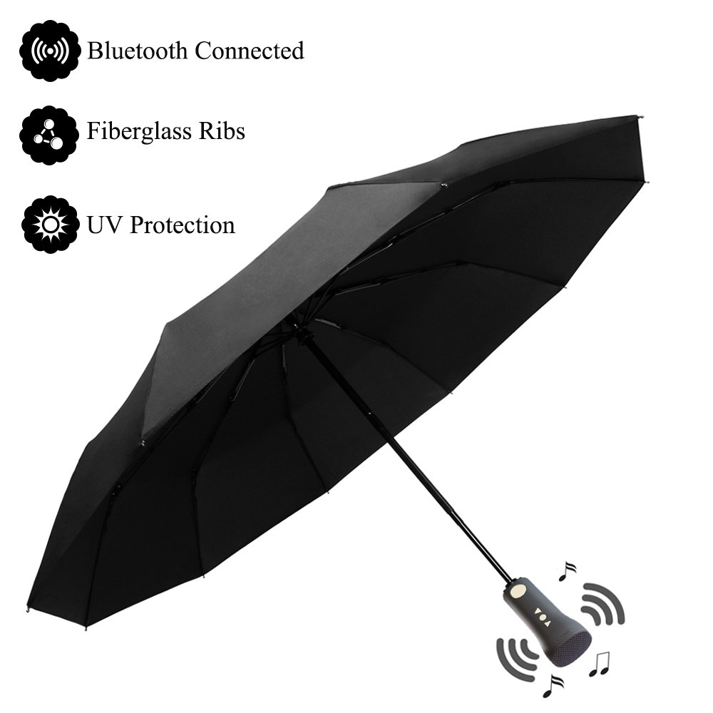 d952ddc028 Zhelth Muscial Bluetooth Umbrella Auto Open Close Folding Strong Windproof  Umbrell new