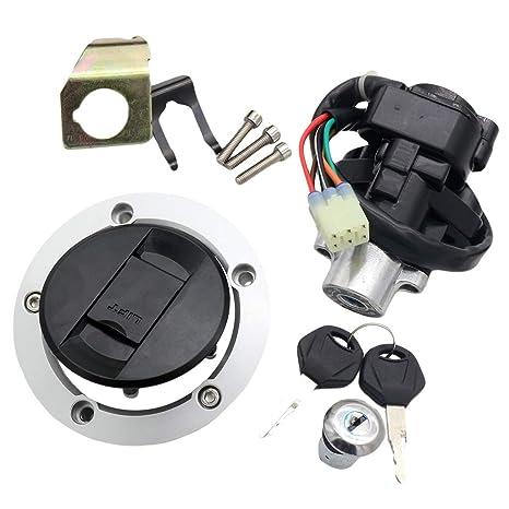 Amazon com: CNCMOTOK Set Ignition Switch + Gas Fuel Tank Cap