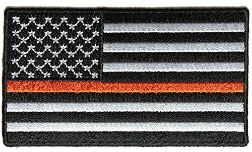 Thin Orange Line American Flag for Search & Rescue - By Ivamis Trading - 3.5x2 inch