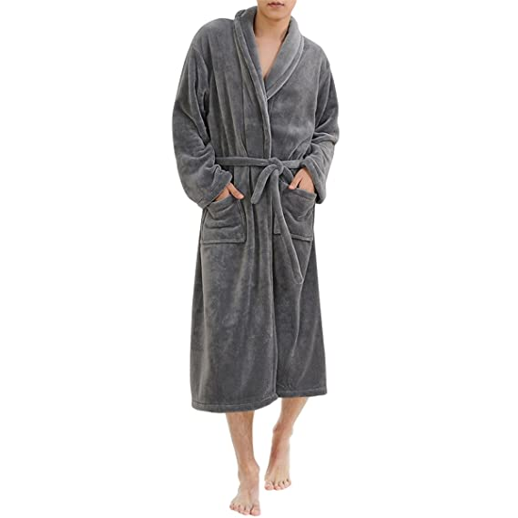 Sue Joe Men s Dressing Gowns Supersoft Housecoat Warm Winter Towelling  Bathrobe 6265d6631