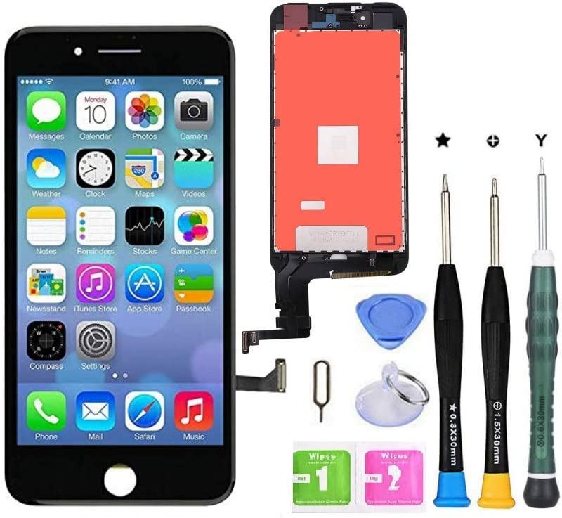 Premium Screen Replacement Compatible with iPhone 8 Plus 5.5 inch Full Assembly -LCD Touch Digitizer Display Glass Assembly with Tools, Fit Compatible with iPhone 8 Plus (Black)