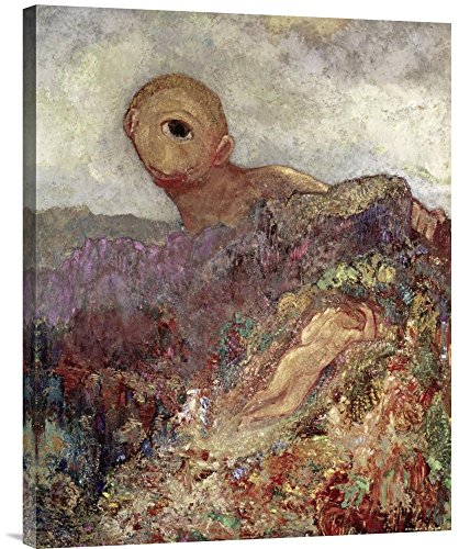 """Global Gallery GCS-279560-30-142 """"Odilon Redon The Cyclops"""" Gallery Wrap Giclee on Canvas Wall Art Print from Global Gallery"""