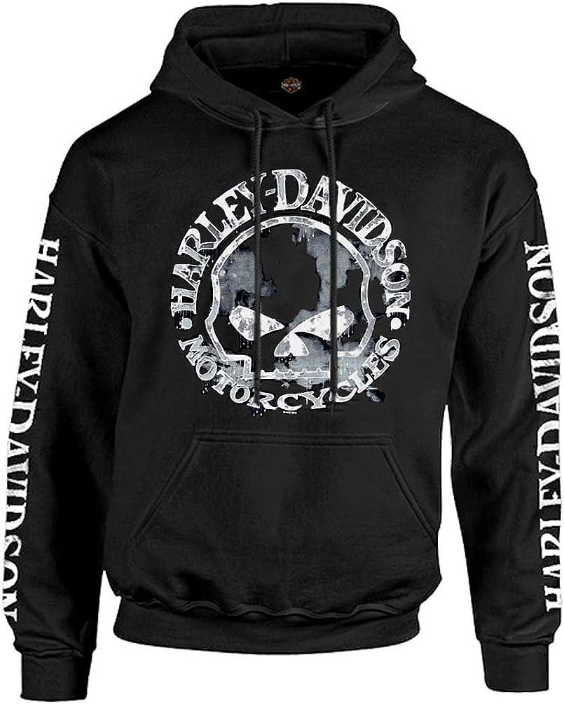 Harley-Davidson Men/'s Sweatshirt Willie G Skull H-D Pullover Black 30296648