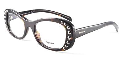b9569b93ca Image Unavailable. Image not available for. Color  PRADA Eyeglasses PR 21RV  2AU1O1 Havana 51MM