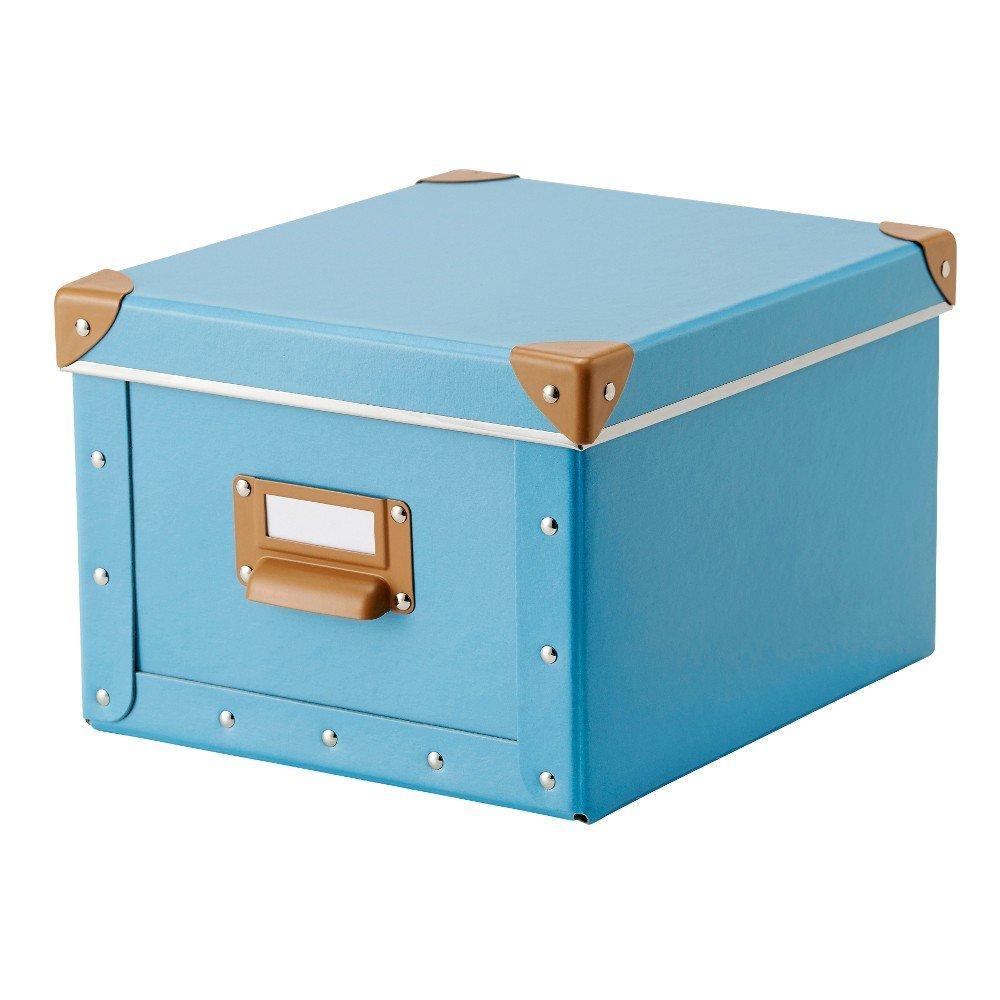 IKEA fjälla Box con tapa (22 x 27 x 16 cm); De color azul y verde ...