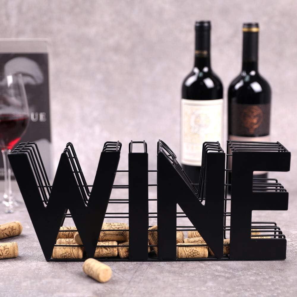 "JHY DESIGN Wine Cork holder-13.5"" Length Metal Craft Wine Cork Storage"
