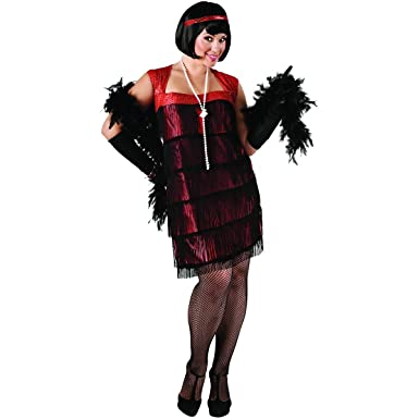 Amazon.com: Flapper Costume - Plus Size - Dress Size Up to 18 ...